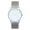 Slim Minimalist Silver Watch Men's & Women's Mesh Strap - Mark 1 - Harley - 38mm