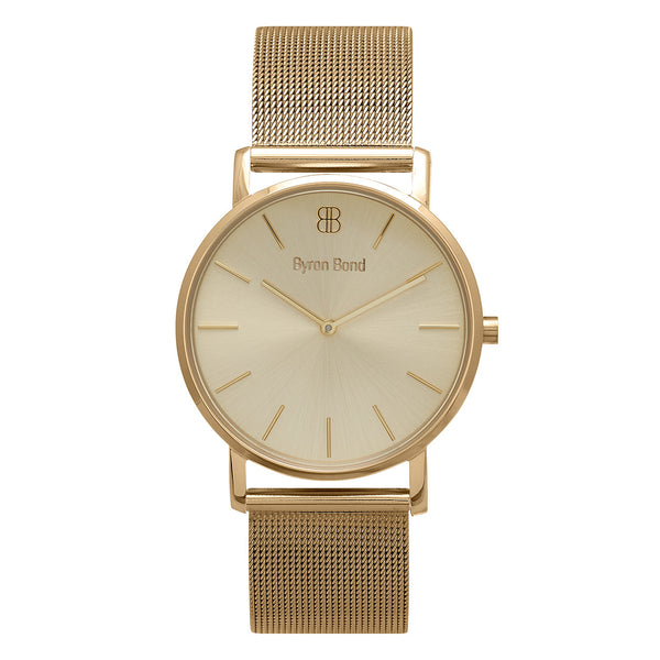 Slim Minimalist All Gold Watch Men's & Women's Gold Mesh Strap - Mark 1 - Regent - 38mm