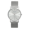Slim Minimalist All Silver Watch Men's & Women's Mesh Strap - Mark 1 - Marylebone - 38mm