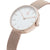 Women's Round Rose Gold Watch White Dial Milanese Strap - Mark 2 - Dean - 30mm