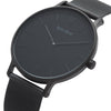 Men's Thin All Black Watch Mesh Strap - Mark 3 - Shoreditch - 41mm