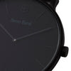 Men's Thin All Black Watch Leather Strap - Mark 3 - Brompton - 41mm