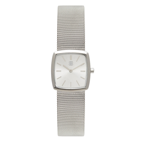 Women's Luxury Cocktail Watch All Silver Milanese Strap - Mark 4 - Marylebone - 26mm