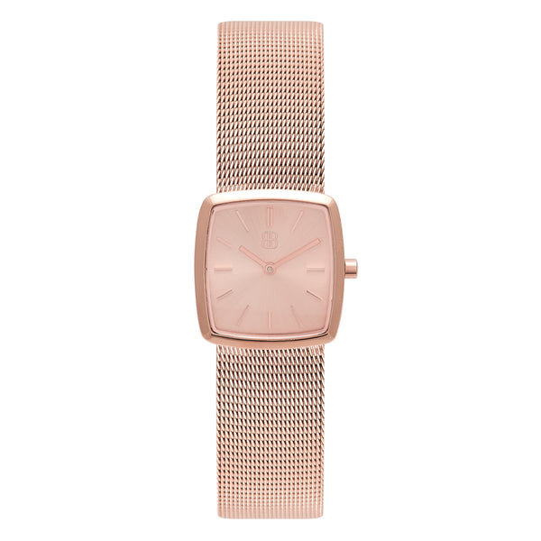 Women's Luxury Cocktail Watch All Rose Gold Milanese Strap - Mark 4 - Kensington - 26mm