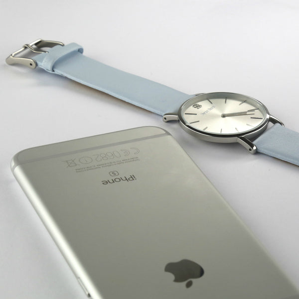 Light grey calf's leather strap