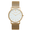 Slim Minimalist Gold Watch Men's & Women's Mesh Strap - Mark 1 - Angel - 38mm