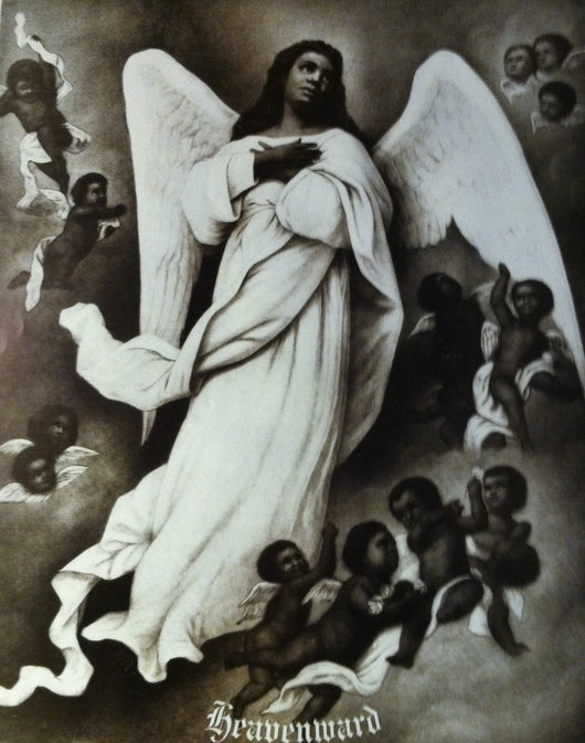 Vintage Poster of a black angel;