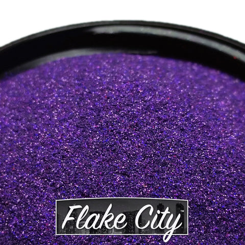 ".004"" Dark Purple Holographic Flakes"