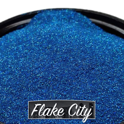 ".004"" Lake Blue Holographic Flakes"