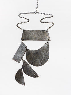 Justine Hill | Necklace - Untitled (Graphite, Five)