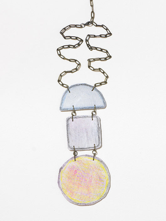 Justine Hill | Necklace - Untitled (Pastel, Three)