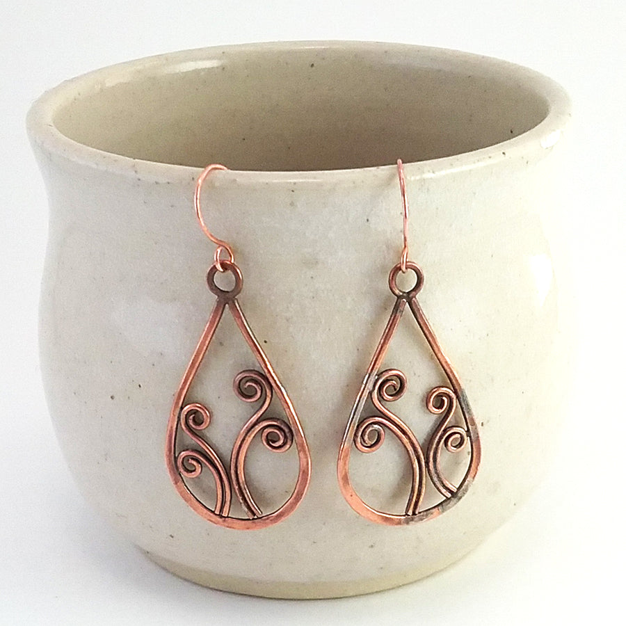 """Sorcha"" copper earrings"