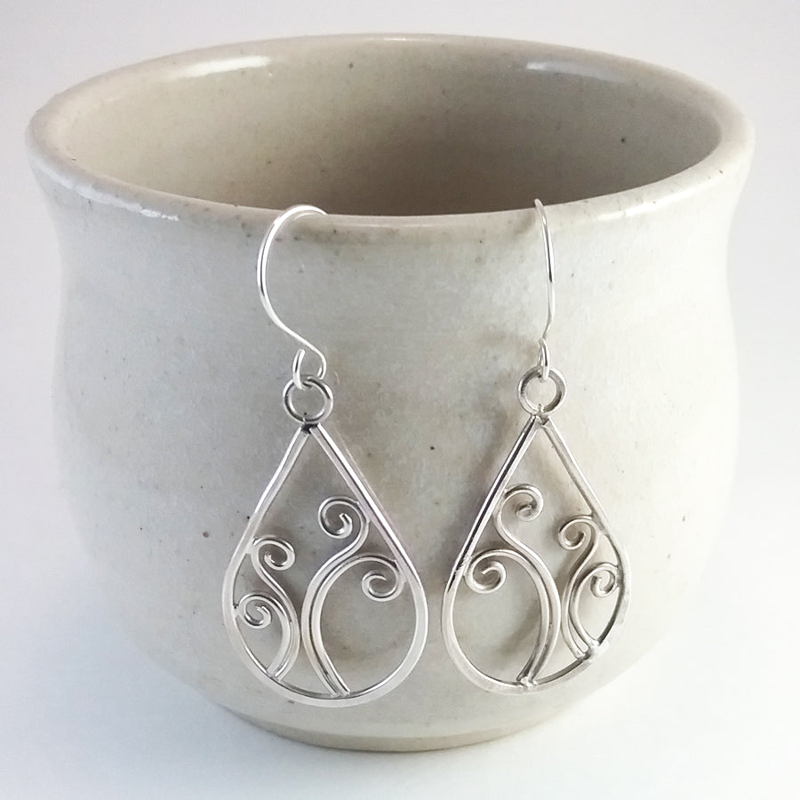 """Sorcha"" sterling silver earrings"