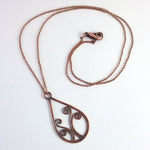 'Sorcha' Small pendant necklace in copper