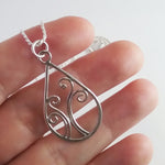 'Sorcha' small pendant necklace in sterling EcoSilver