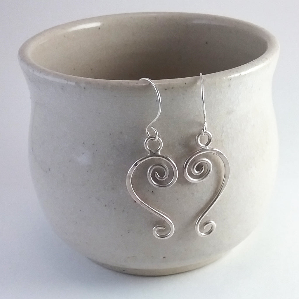 'Olwyn' earrings in sterling EcoSilver