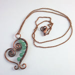 "'Olwyn"" Necklace in Copper and Green Aventurine"