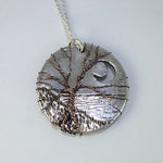 """Sentinel"" sculpted pendant necklace in fine silver and copper"
