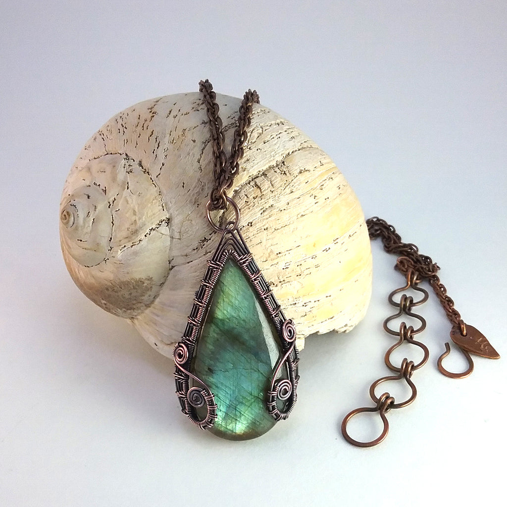 "Reversible Labradorite ""Brigid"" Necklace"