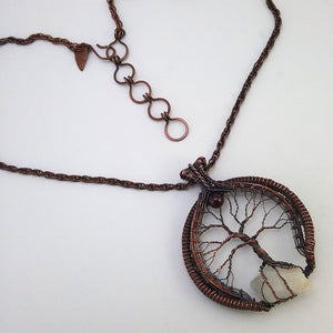 Calcite Point Tree of Life Necklace