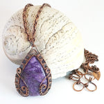 'Brigid' Purple Charoite Reversible Necklace