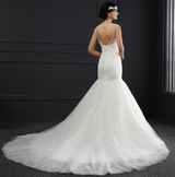 Crystal Lace Backless Mermaid Wedding Dress
