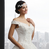 Off Shoulder Beading Lace Wedding Dress