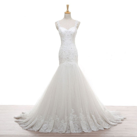 Crystal Lace Mermaid Wedding Dress