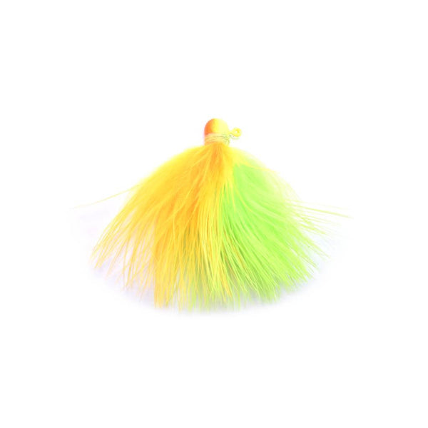 Marabou Jig - Chartreuse / Fluorescent Orange (2)