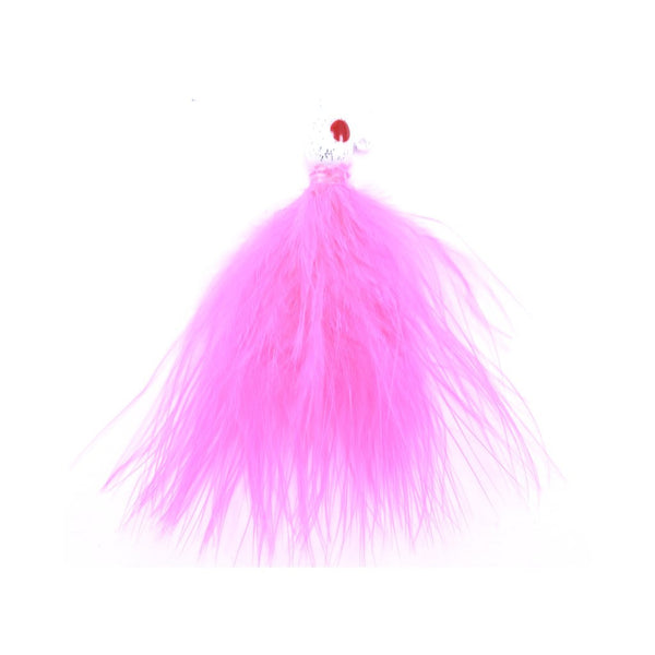 Tournament Quality Marabou Jig - Fluorescent Pink (2)