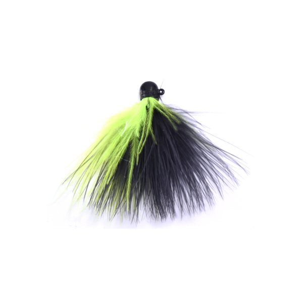 Marabou Jig - Black / Yellow (2)