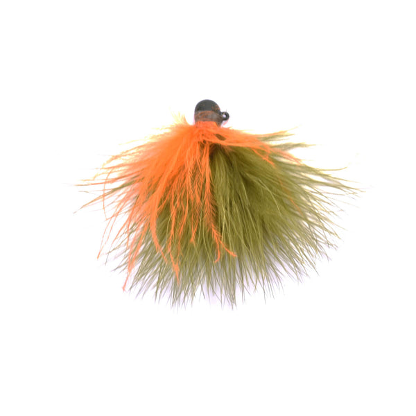 Marabou Jig - Olive / Burnt Orange (2)