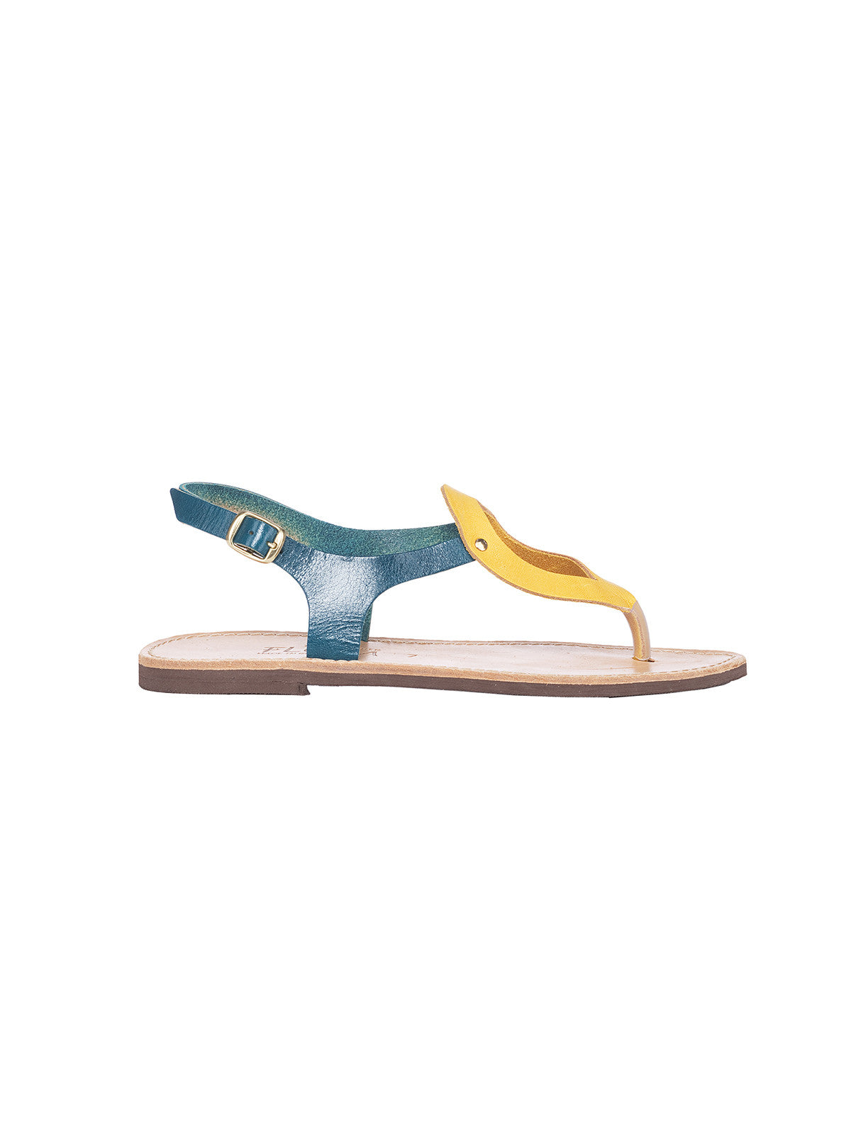 Ioanna Green-Yellow Greek Sandals