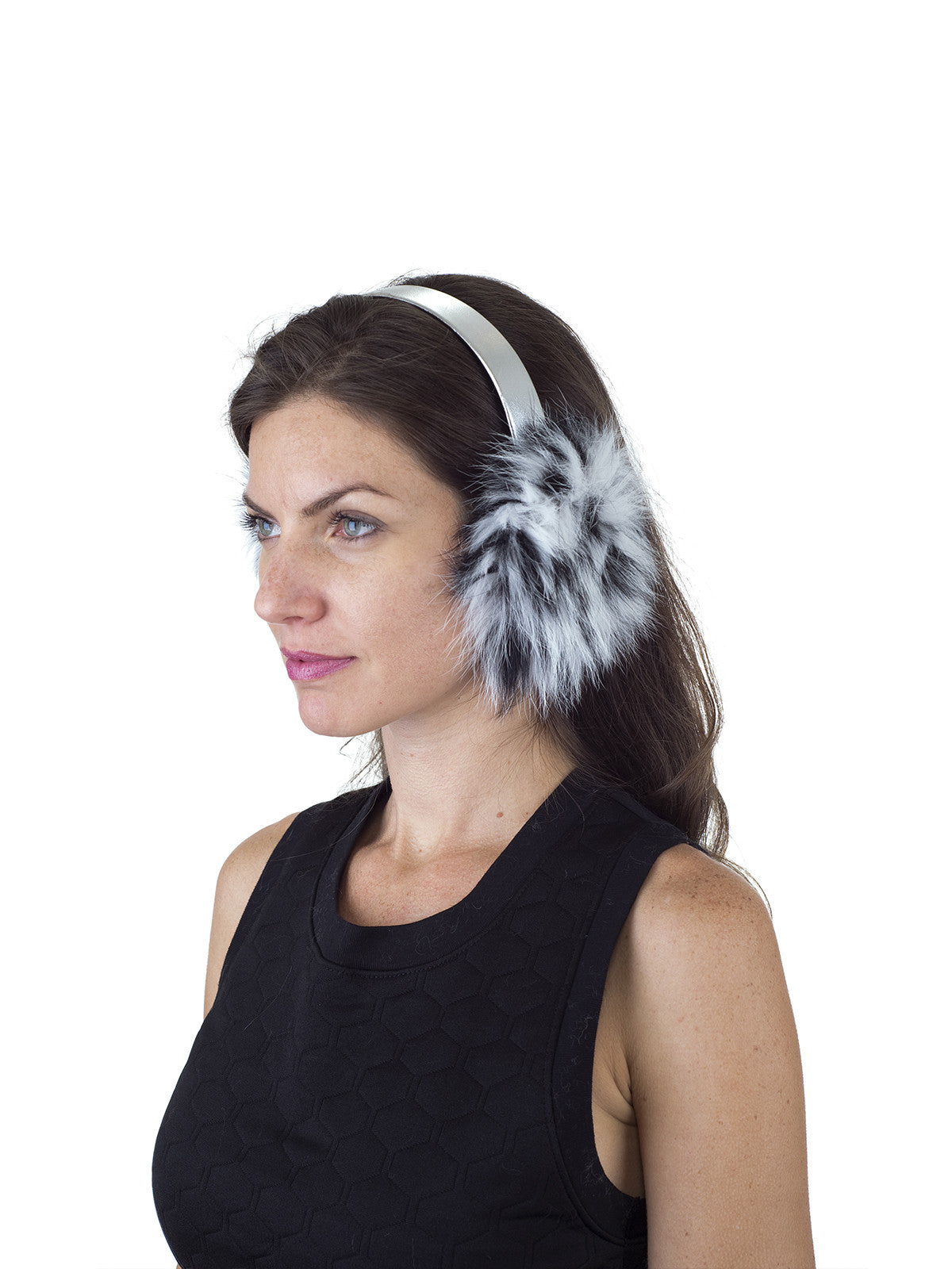 Black and White Fox Earmuff
