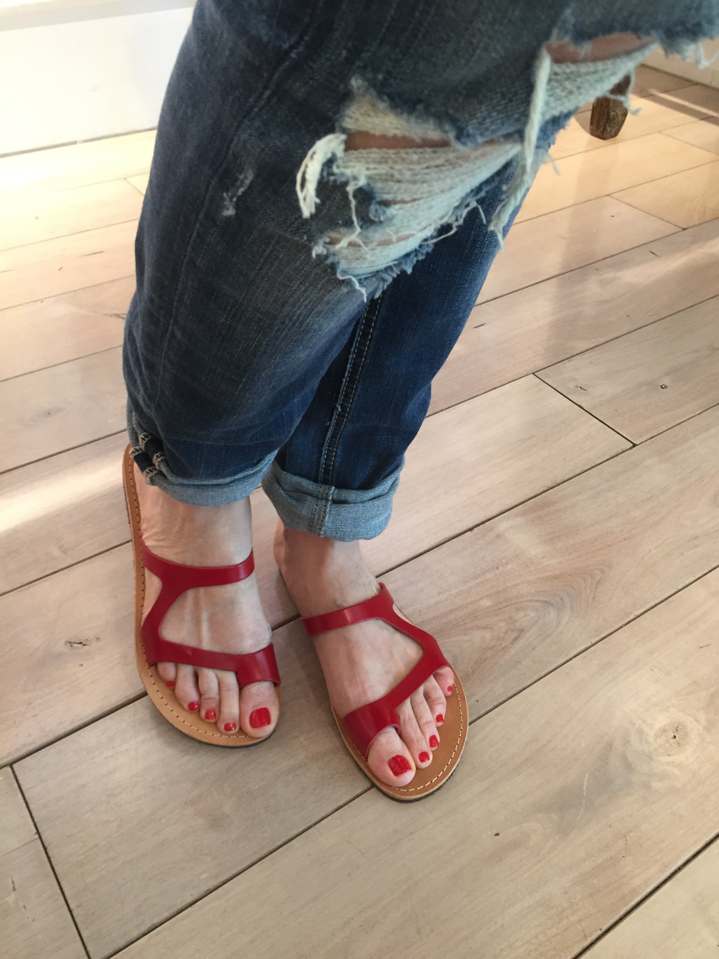 Amaltheia Greek Leather Sandals