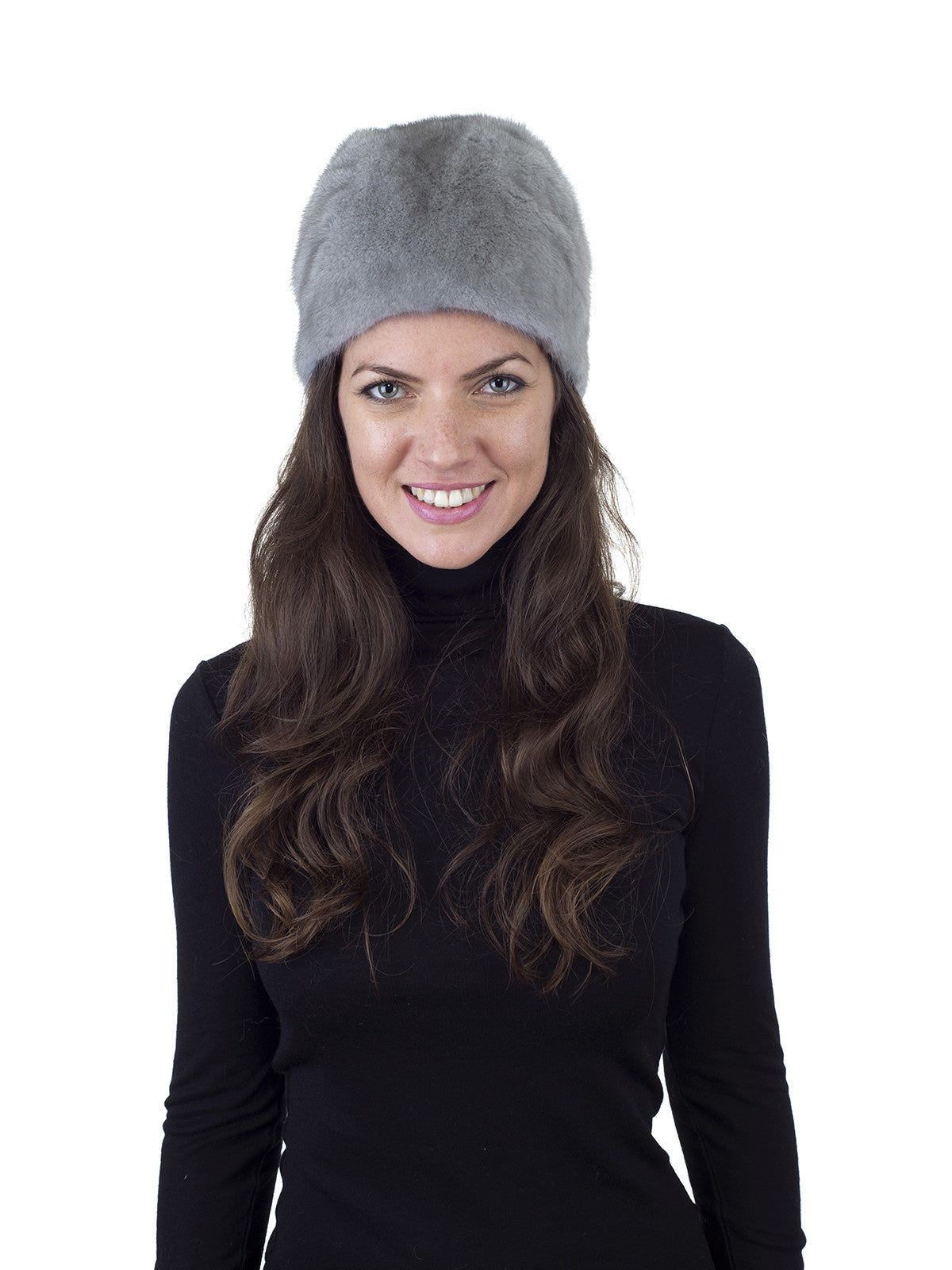 Grey Mink Hat