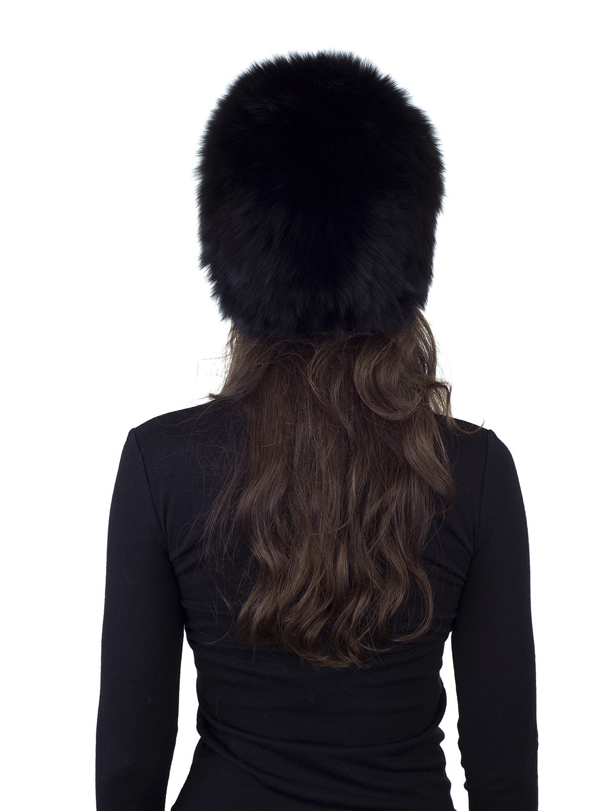 Black Fox Knitted Hat