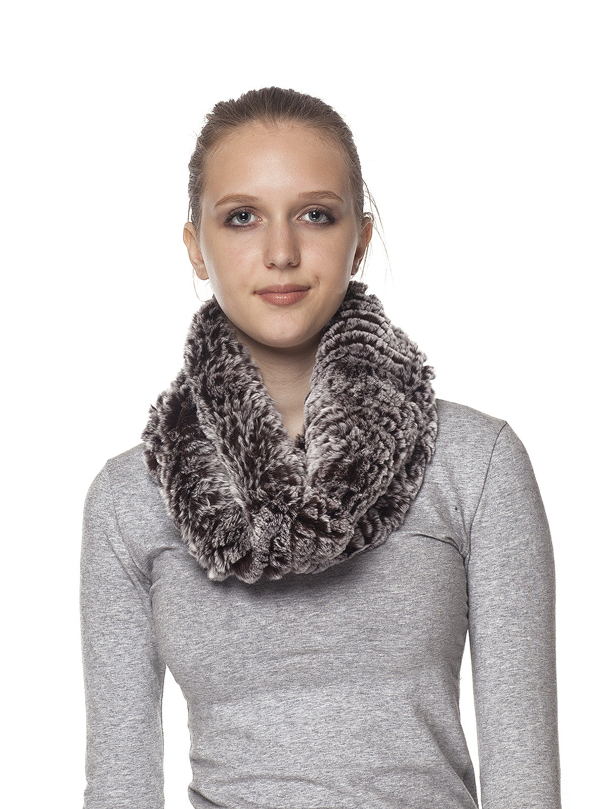 Rex rabbit infinity scarf with ruffle