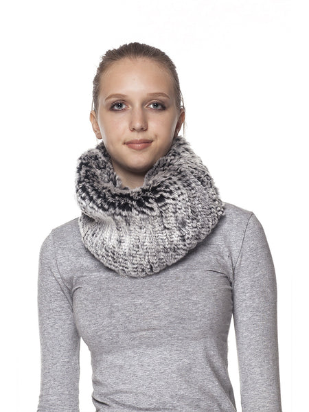 Black Frost Rex Rabbit Scarf