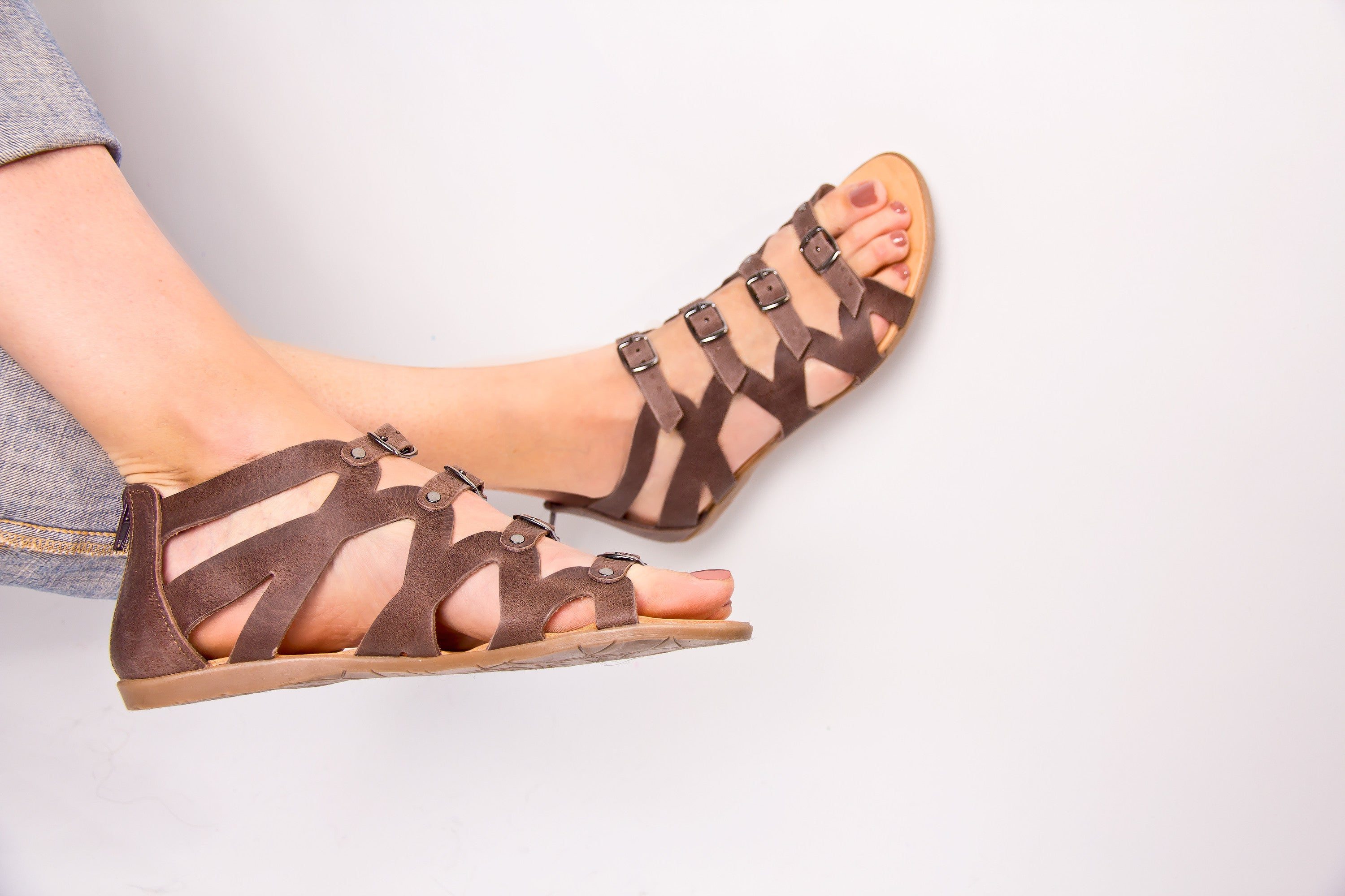 Sophia Greek Leather Sandals