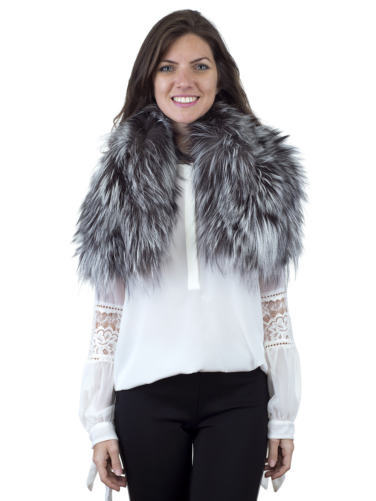 Silver Fox Collar-Scarf