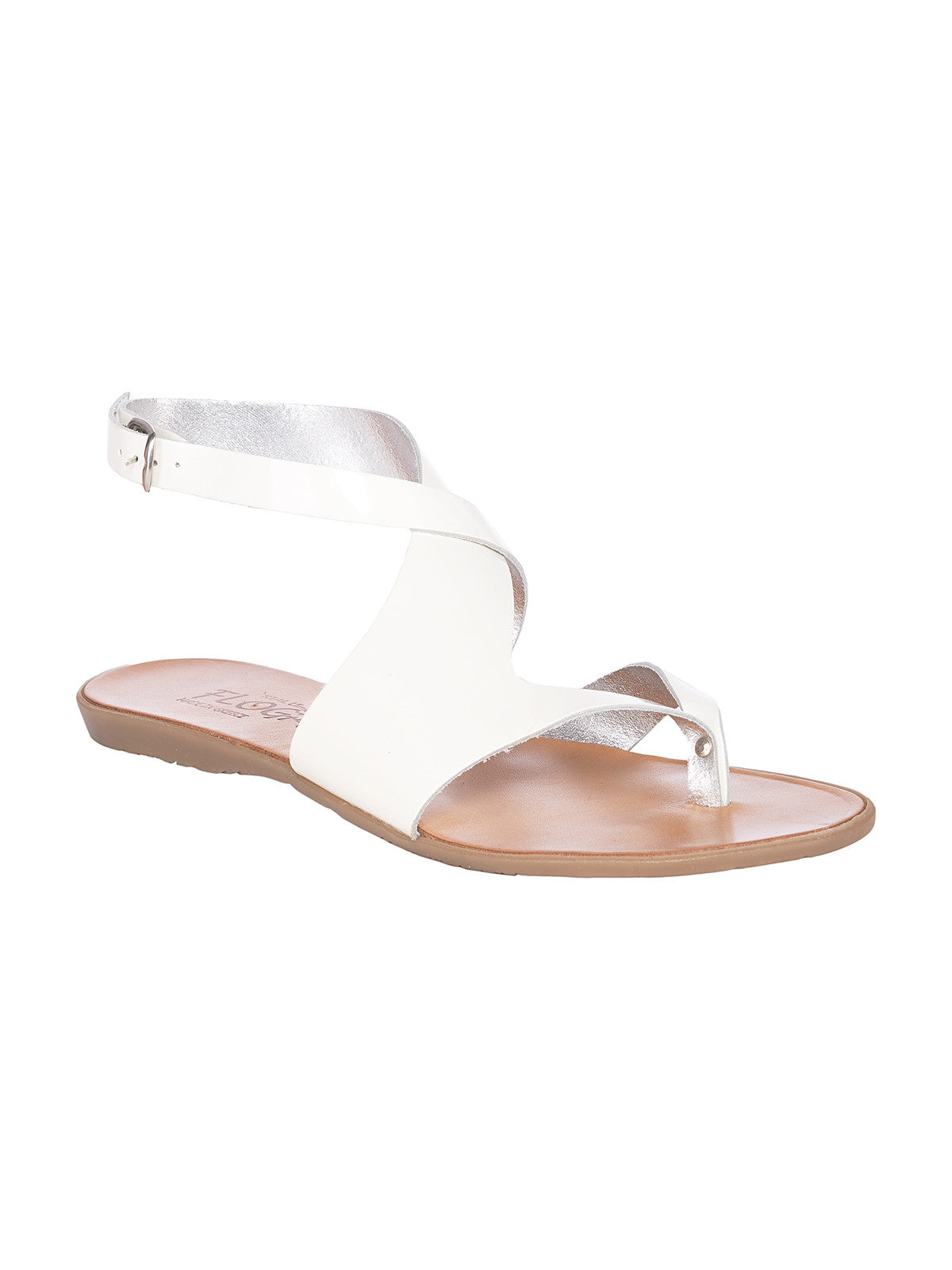 Lysistratis White Greek Leather Sandals