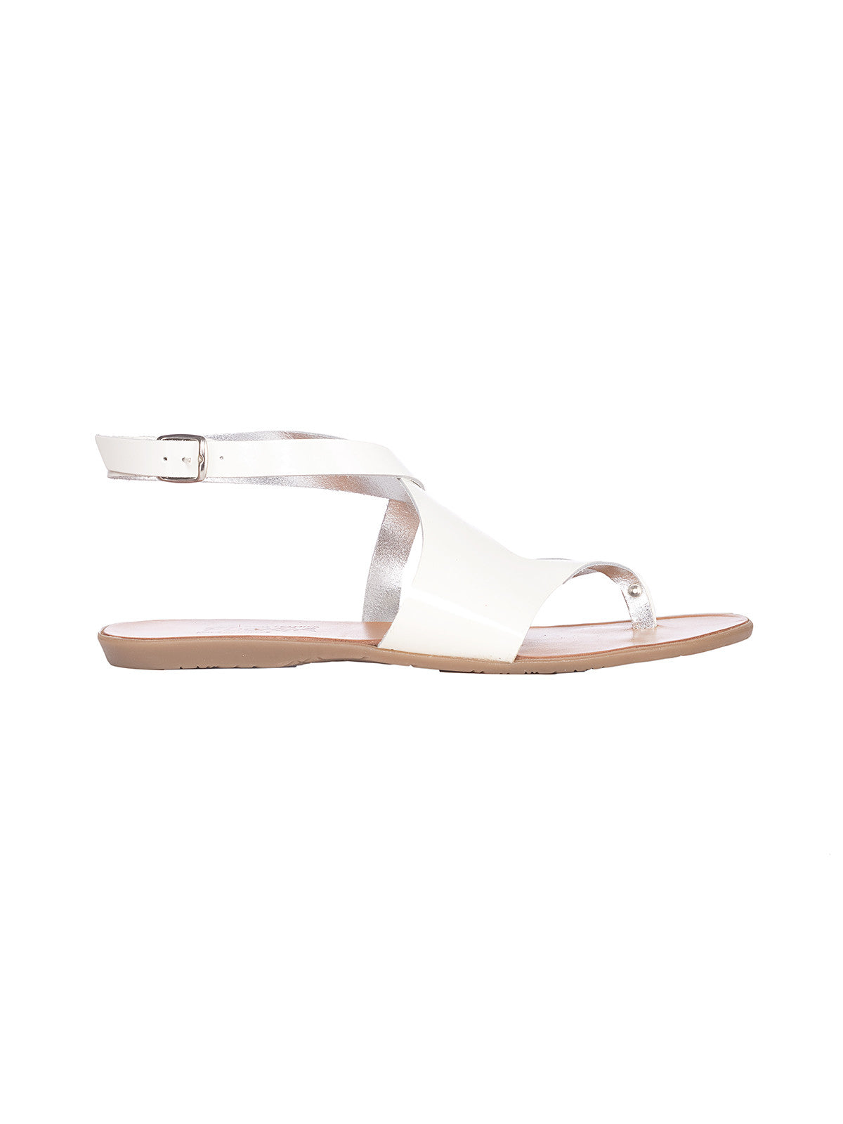 Lysistratis White Greek Sandals