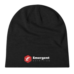 Emergent Nutrition Knit Slouch Beanie