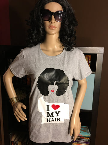 I Love My Hair Women's T-Shirt - Girls Love Stuff
