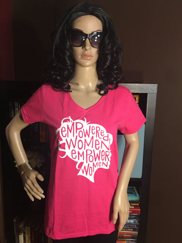 Empowered Women Women's V-Neck T-Shirt - Girls Love Stuff
