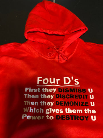 Four D's Unisex Graphic Hoodie (Red)