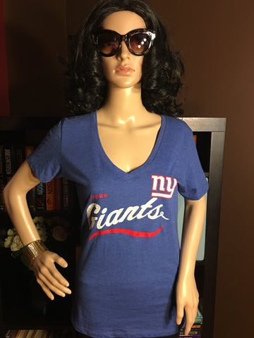 NFL New York Giants Women's V-Neck T-Shirt - Girls Love Stuff