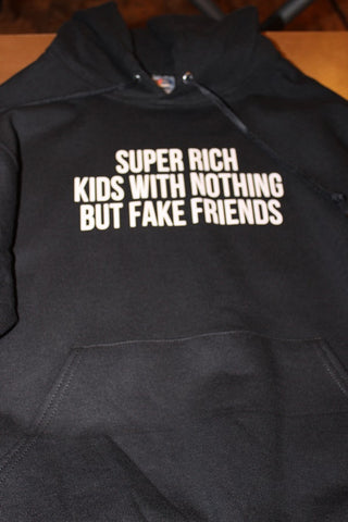 Super Rich Kids Graphic Hoodie (Black) - Girls Love Stuff