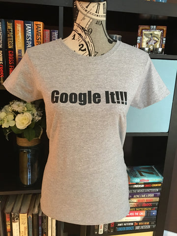 Google It!!! Graphic T-Shirt (Grey) - Girls Love Stuff